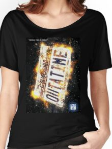 Back To The Future Licence Plate Women's Relaxed Fit T-Shirt