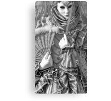 Mono detail of venice Canvas Print