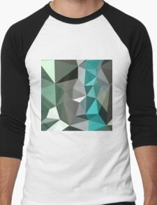 Persian Green Abstract Low Polygon Background T-Shirt