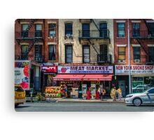 Manhattan Meat Market Canvas Print
