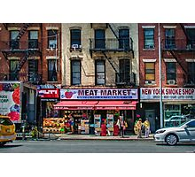 Manhattan Meat Market Photographic Print