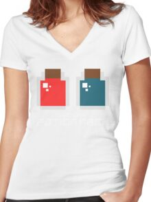 Check My Potion Rack Women's Fitted V-Neck T-Shirt