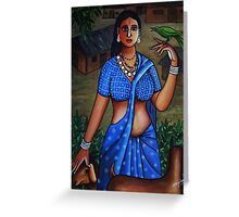 village woman Greeting Card