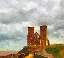 Reculver towers & Roman Fort, Kent, UK by buttonpresser