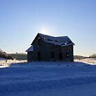 Sunrise over the homestead by Sonya Lynn Potts
