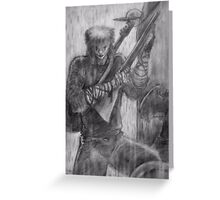 the crow (pencil) Greeting Card