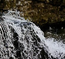 Rushing Stream and Stone Wall by jaytr08