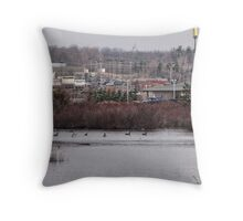 Nature in the middle of town Throw Pillow