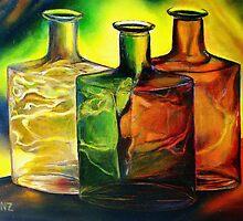 Three Bottles by Robert Zunikoff