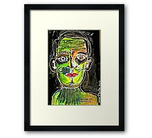 Portrait of a Narcissist Man Framed Print