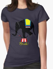 Acrobat elephant Womens Fitted T-Shirt