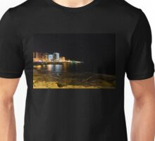 Black Night, Bright Lights - Sliema's Famous Waterfront Unisex T-Shirt