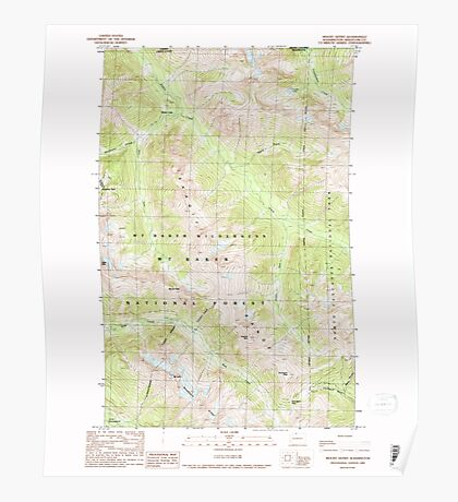 USGS Topo Map Washington State WA Mount Sefrit 242532 1989 24000 Poster