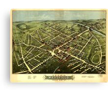 Panoramic Maps Westfield 1875 Canvas Print