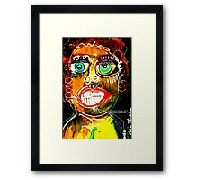 Portrait of a Narcissist  Woman Framed Print