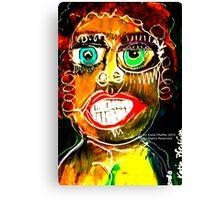 Portrait of a Narcissist  Woman Canvas Print