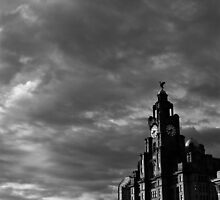 The Liver Building on a Breezy Day in Liverpool by jaytr08