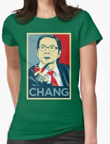 Chang We Can Believe In (Community) Womens Fitted T-Shirt