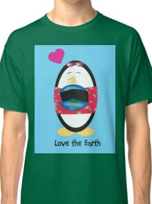 Waddles the Penguin Loves the Earth Classic T-Shirt