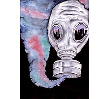 Inhale The Galaxy Gasmask Photographic Print