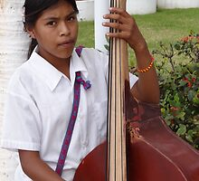 The Daughter - Bassist - La Hija - La Bajista by Bernhard Matejka