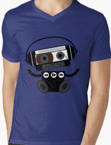 Cassette Robot Mens V-Neck T-Shirt