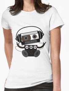 Cassette Robot Womens Fitted T-Shirt