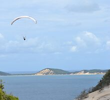 Paragliding at Rainbow Beach by TheaShutterbug