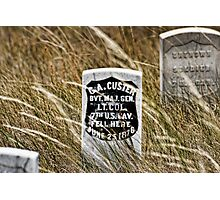 Custer's Headstone Photographic Print