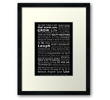 Powerful Thoughts to Inspire Framed Print