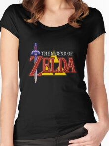 The Legend of Zela - A Link to the Past logo Women's Fitted Scoop T-Shirt