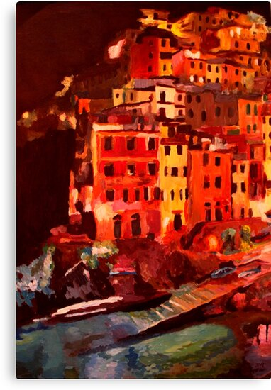 Magic Cinque Terre Night in Riomaggiore by artshop77