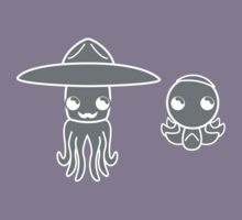 Hats on a Squid and Octopus by nrxia