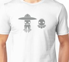 Hats on a Squid and Octopus Unisex T-Shirt