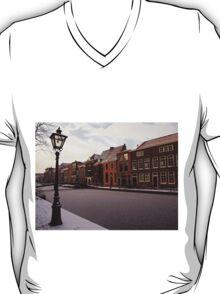 Frozen Canal, Leiden, Holland T-Shirt
