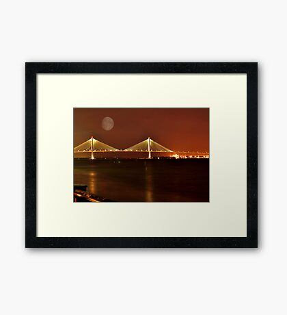 Charles Ravenal Jr.Bridge At Night Framed Print