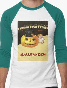Shocking The Baby (Vintage Halloween Card) Men's Baseball ¾ T-Shirt