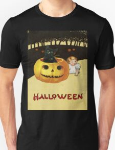 Shocking The Baby (Vintage Halloween Card) Unisex T-Shirt