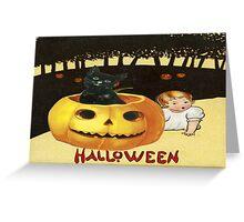 Shocking The Baby (Vintage Halloween Card) Greeting Card