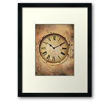 Vintage Clock Framed Print