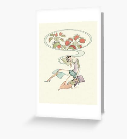 beauty dreaming Greeting Card