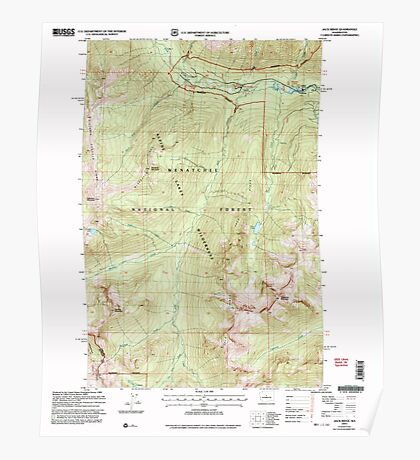 USGS Topo Map Washington State WA Jack Ridge 241681 2003 24000 Poster