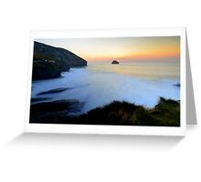Cornwall: March Sunset at the Strand Greeting Card