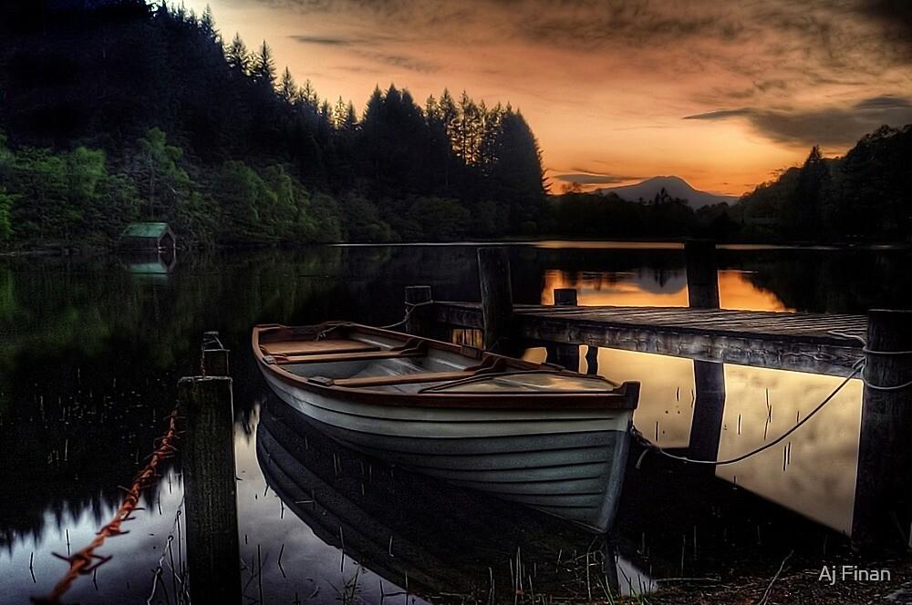 Golden Sunset over Loch Ard by Aj Finan