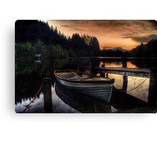 Golden Sunset over Loch Ard Canvas Print