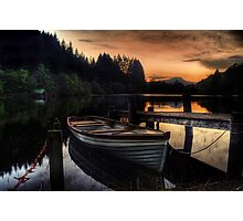Golden Sunset over Loch Ard Photographic Print
