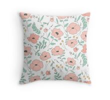 Elegant seamless pattern with flowers Throw Pillow