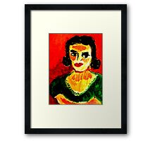 Portrait  Of A Refined Sugar Addict Framed Print