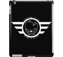 "Gym/Gaming Motivation Gear ""Everything Is Hard Before It Is Easy"" Coat Of Arms White iPad Case/Skin"