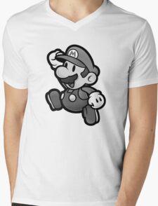 Olde Timey Mario Mens V-Neck T-Shirt